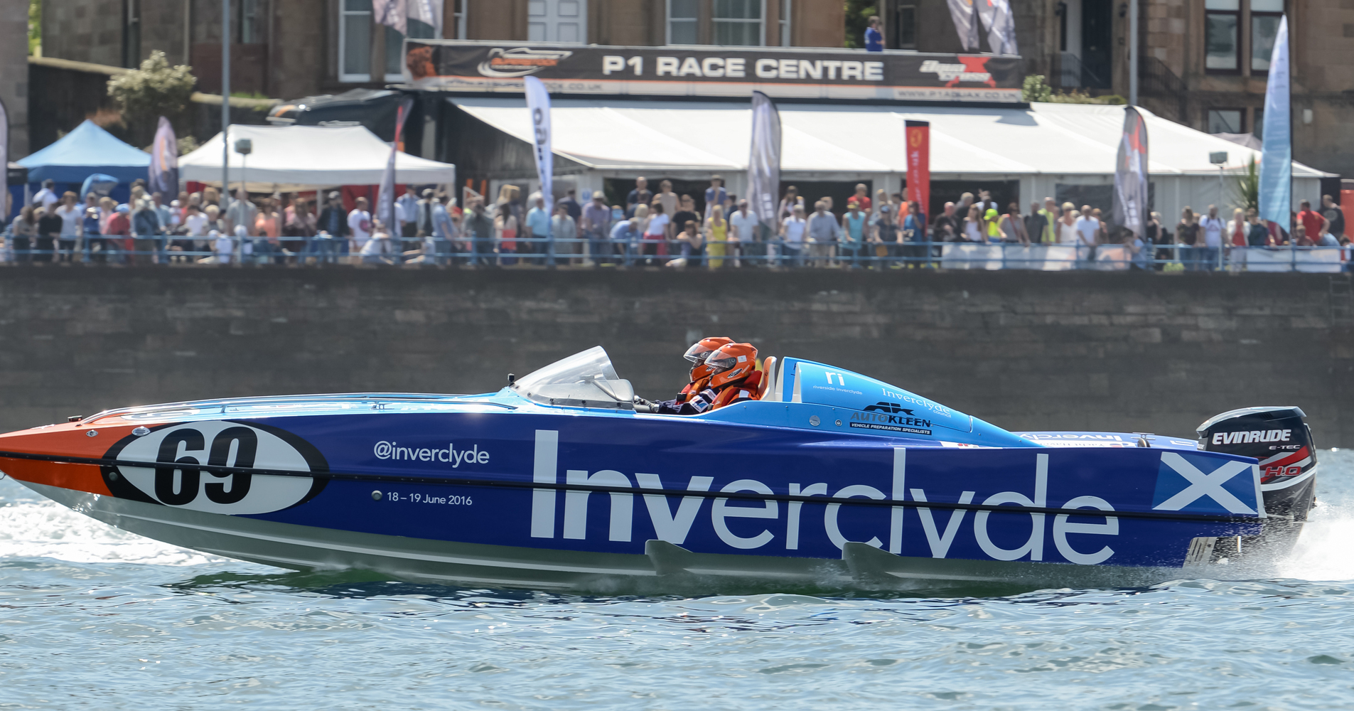 The Spirit of Inverclyde team made their debut last year and raced in front of a packed Greenock crowd