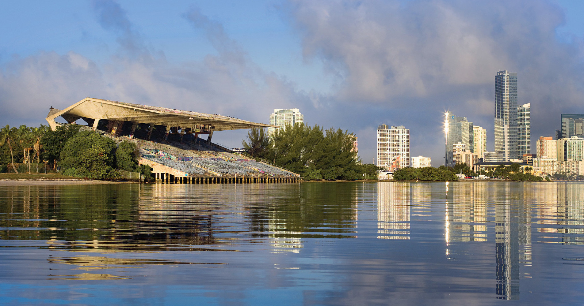 The Miami Marine Stadium was built in 1963 but damaged by Hurricane Andrew in 1992
