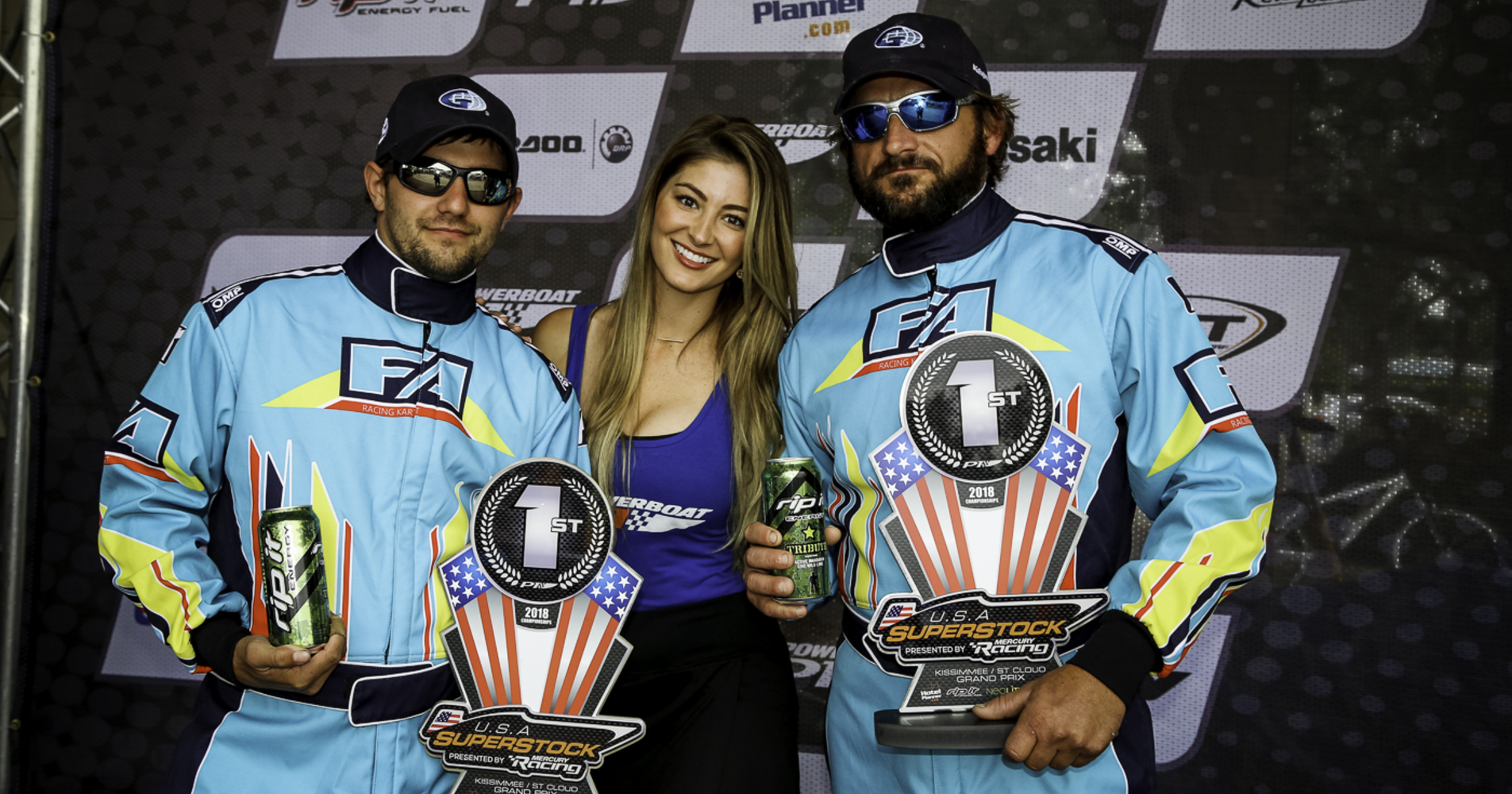 Gallagher Racing posing on the podium after their impressive weekend