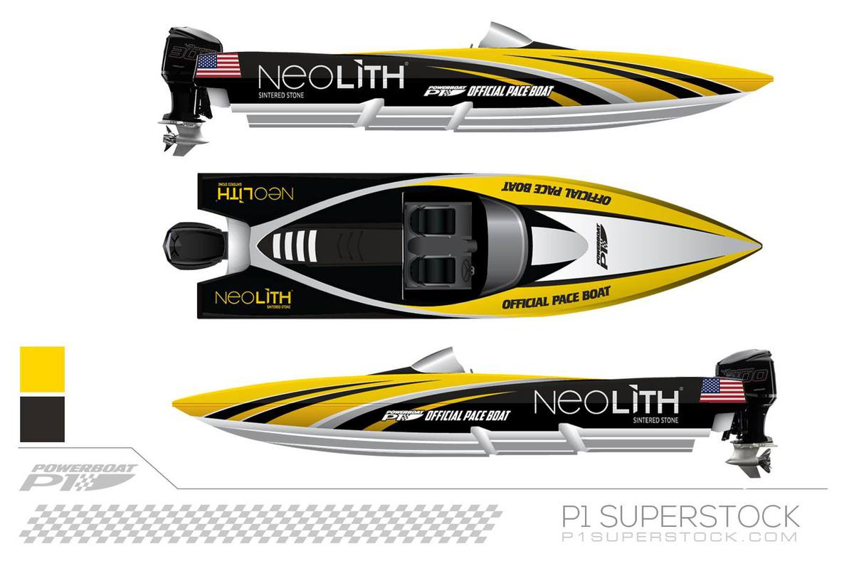 NEOLITH ARE THE OFFICIAL PACE BOAT SPONSOR IN THE 2018 P1 SUPERSTOCK