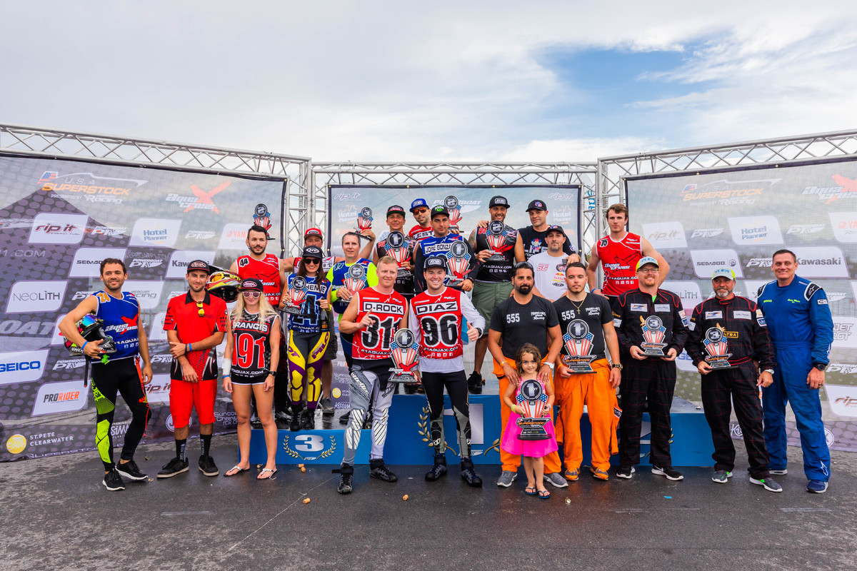 All of the AquaX and SuperStock podium winners in Miami last weekend!