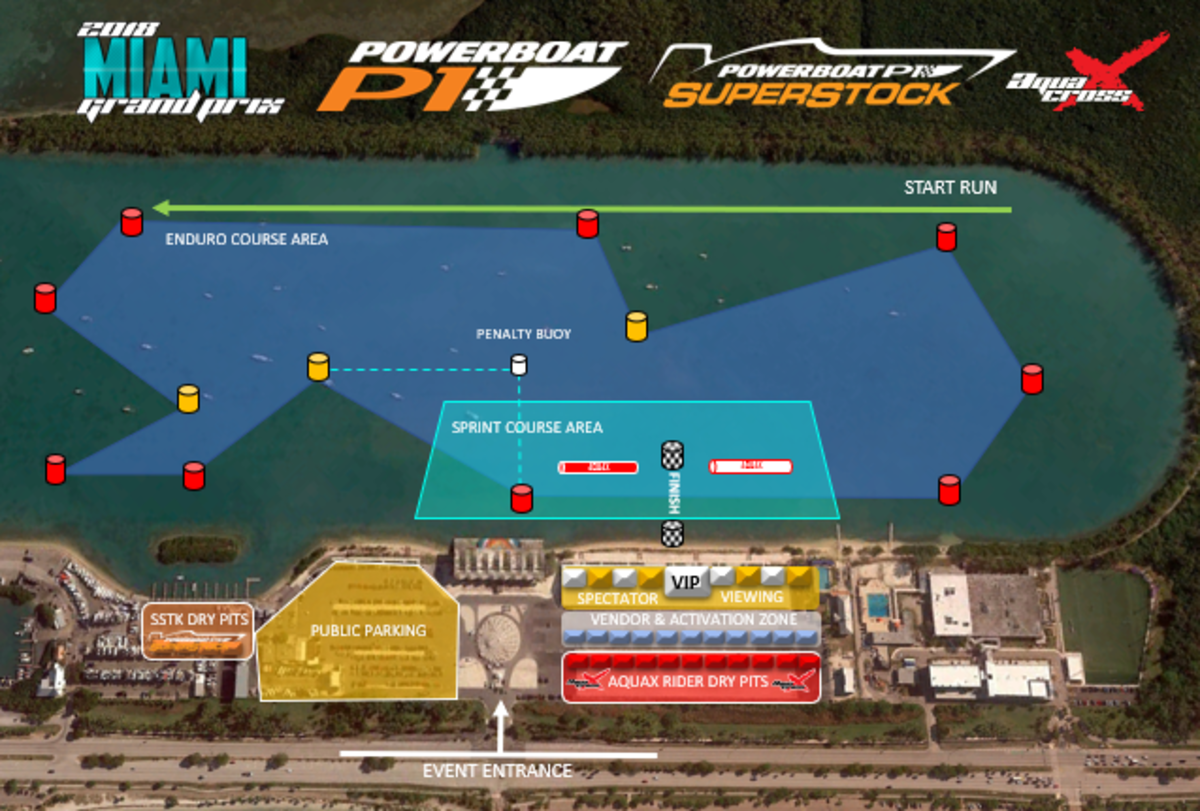 Miami Marine Stadium Site Map