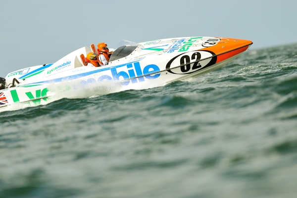 Lycamobile Racing's Stuart Cureton and Sara Cureton in Scarborough