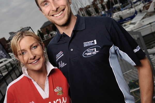 Daisy Coleman pictured alongside brother Sam Coleman are flying the flag for Wales in Cardiff