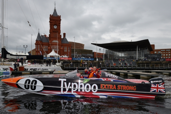 Typhoo's Kevin Hunt and John Donnelly couldn't hide their delight after picking up their first ever P1 SuperStock victory