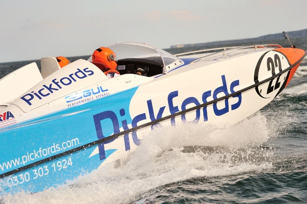 Pickfords in action down Scarborough Bay, finishing third overall