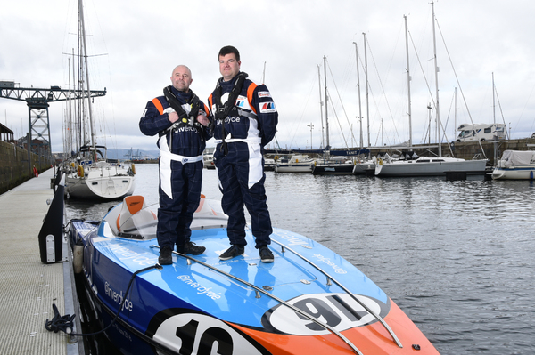 Team 'Spirit of Inverclyde' - Dino Zavaroni (left) and Gordon Wicklow (right)