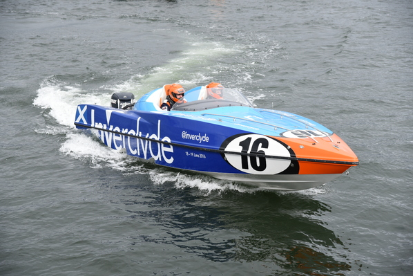 Team 'Spirit of Inverclyde' hit the water