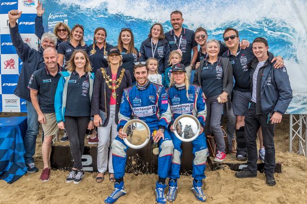 The entire Pertemps Network team joined Sam and Daisy in celebrating the championship title in Bournemouth