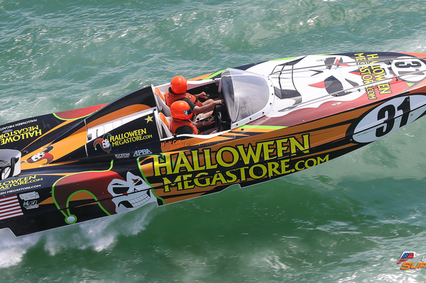 Halloween Megastore cruising in Sarasota in the P1 SuperStock USA Championship.