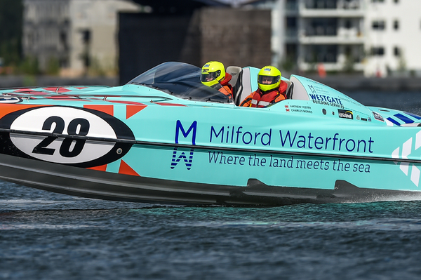 Milford Waterfront secured their first ever SuperStock victory in difficult conditions on the River Clyde