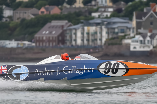 Arthur J Gallagher in action during the 2017 SuperStock series
