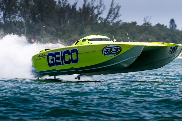 Miss GEICO Offshore Race Boat in Action