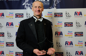 Neil Jackson picked up one of the 2016 RYA Powerboat Racing Ambassadors awards