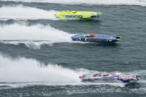 Class 1 boats in race action – photo courtesy of Coleman McGowan
