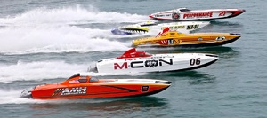 Sarasota Powerboat Grand Prix boats in action. Photos by Pete Boden copyright Shoot 2 Thrill Pix.