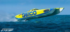 GEICO boat at Thunder on Cocoa Beach 2019                                                                                                                                   Photo Credit: Ronnymac