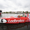 Ladbrokes Premiership trophy delivered by P1 Panther on River Clyde to celebrate Celtic's title record